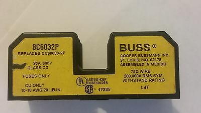 BUSS BC6032P 2 POLE 30A 600V CLASS CC Fuse Holder CU only
