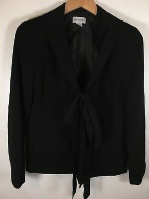 Motherhood Maternity Blazer Size Small Tie front black career