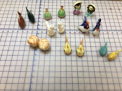 Lot Of 8 Vintage Salt And Pepper Shakers most Japan, 1 USSR