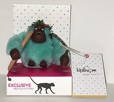 NWT Exclusive Kipling Hawaii Surfer Monkey with Surf Board & Flower NEW IN BOX