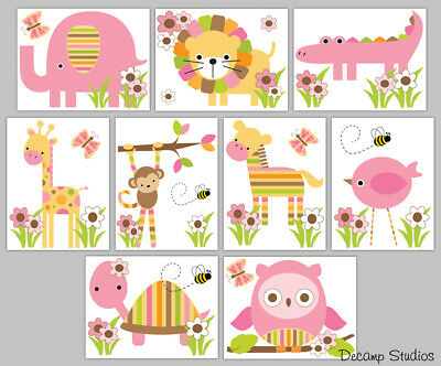 Safari Animal Decals Nursery Wall Art Mural Jungle Woodland Stickers Kids Room