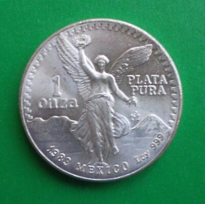 1983 Mexico Un Onza (1 Oz.) Libertad- .999 Pure Silver Gem!!- Make Me An Offer!!