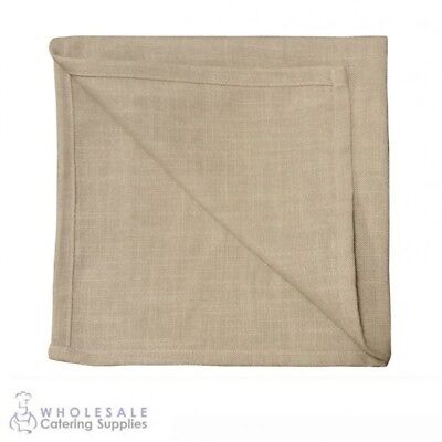 10x Rustic Beige Napkin Serviette, Cafe Restaurant Quality Textured Natural Feel