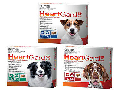 HeartGard Plus Heartworm for Dogs Tasty Chews Prevention All Sizes Heart Worm