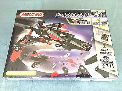 Meccano Space Chaos Dark Pirates #803100B 40 Pieces New Sealed