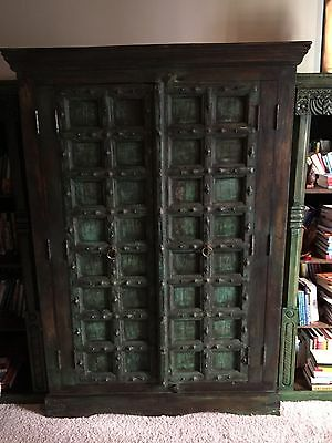 STUNNING ARMOIRE w/ ANTIQUE DOORS from India