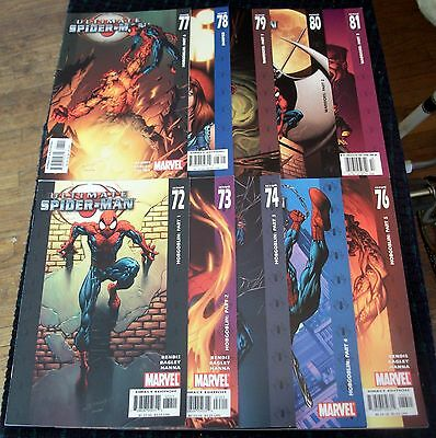 Ultimate Spider-Man #72 73 74 75 76 77 78 79 80 81 VF/NM Marvel Lot of 10