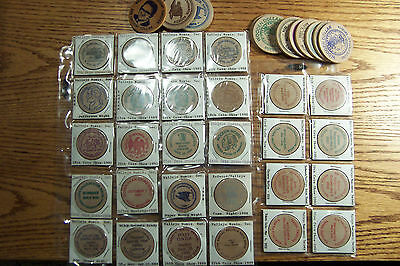 41 Pc   Vallejo Calififornia  - Wooden Nickel Collection 1981-2004   MINT !