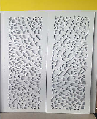 White Argo indoor / outdoor Decorative Garden Screens 600x1200 2 Pack