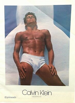 1983 CALVIN KLEIN UNDERWEAR  Gay Icon Art Photo by Bruce Weber Vintage Print Ad