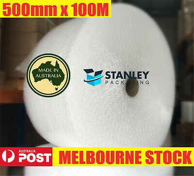 Bubble Cushioning Wrap 500mm x 100M Clear 100meter Roll 10mm Bubbles P10