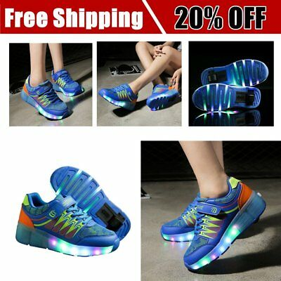 Roller Shoes Glowing Sneakers With Lights Children Single Wheel LED Shoes OK