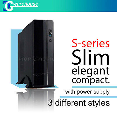 Desktop PC Black Case Micro ATX /ITX USB 3.0 2.0 Super Slim 400W Power Supply