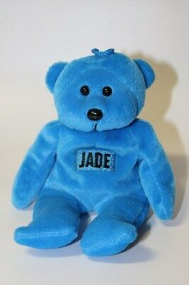 """Jade"" Name Beanie Bear Blue"