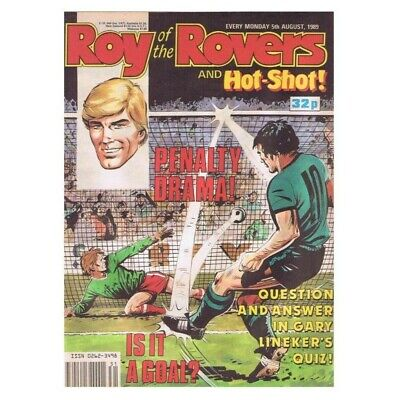 Roy of the Rovers Comic  August 5 1989 MBox2769 Penalty Drama! Is it a goal?