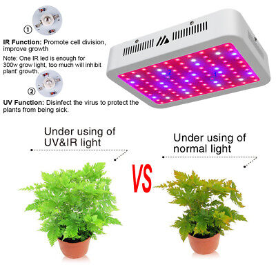 1000W LED Grow light Panel Indoor Plant Hydroponic Veg Bloom Full Spectrum Lamp