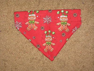 Christmas Gingerbread Men Dog Bandana - 5 sizes XS - XL