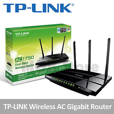 TP-LINK Archer C7 AC1750 Dual Band Wireless AC Gigabit Router, 2.4GHz 450Mbps+5G