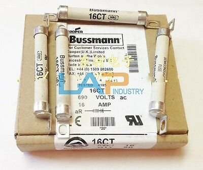 3Pcs Bussmann 16CT 16Amp 690VAC Type T BS88 British Style Semiconductor Fuse