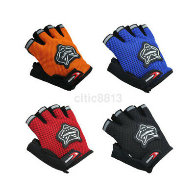 Outdoor Cycling Riding Bike Bicycle Mountain Antiskid Gel Half Finger Gloves New