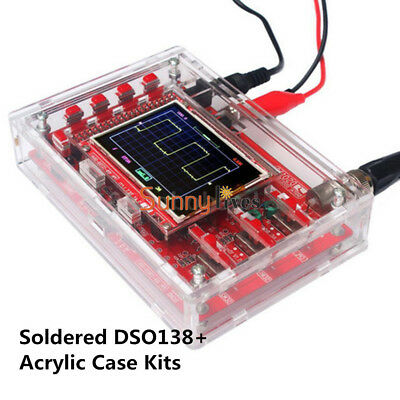 "DSO138 2.4"" TFT Digital Oscilloscope +Acrylic Case DIY Kit SMD Soldered New"