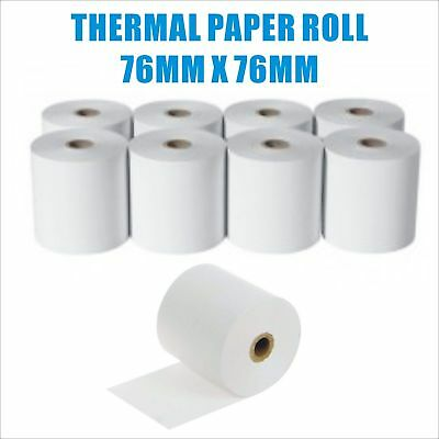 Premium Thermal Paper 76x76mm Cash Register Receipt Rolls EFTPOS