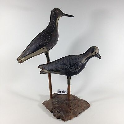 Mid Century Rare Old Antique Shore Birds Tin Metal Shorebird Decoy Primitive