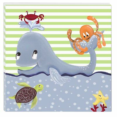 "Doodlefish Gallery Wrapped 18""x18"" Wall Art, Whale of a Tale"