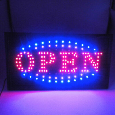 "FLASHING LED SIGN ""OPEN"" SIZE 48CM X25CM / NO on and off Switch Electronic Signs"