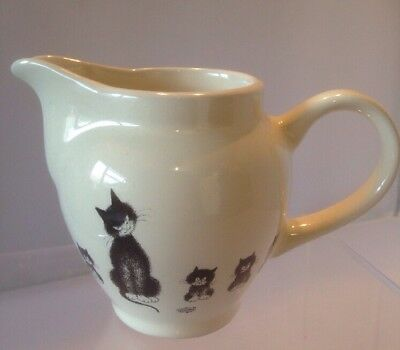 Dubout Editions Clouet Black Cat and Kitten Milk Cream Jug Ceramic 2002