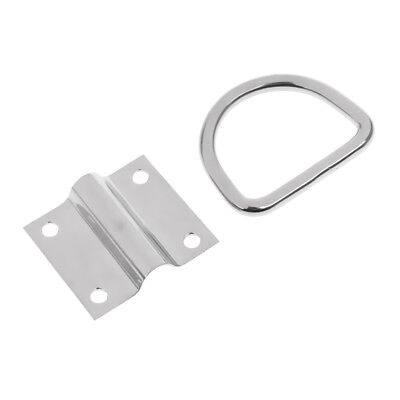 Stainless Steel Folding Pad Eye Tie Down Point Lashing Ring for Boat Trailer