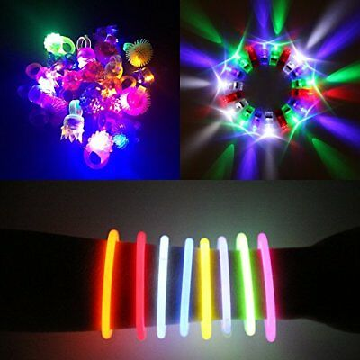"""180 Pcs LED Glow in the Dark Party Favors Pack. 8"""" Glow Sticks Bracelet Mixed Co"""