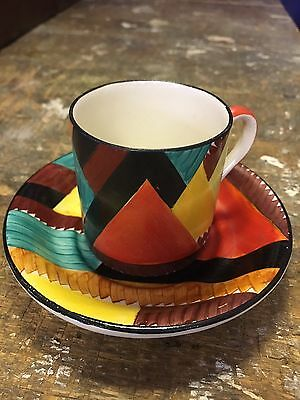 Susie Cooper `jazz` pattern Grays pottery coffee cup and saucer 1 set (cup &sau)