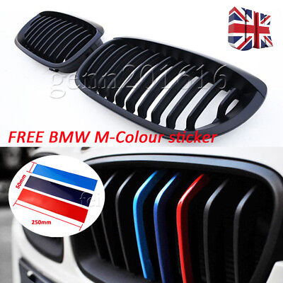 For BMW 3 E46 LCI Facelift Coupe Convertible M Black Kidney Sport Grilles 02-05