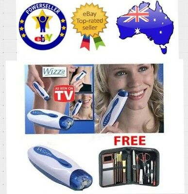New Wizzit Epilator Automatic Hair Removal Electric Tweeze Trimmer+ Manicure Set
