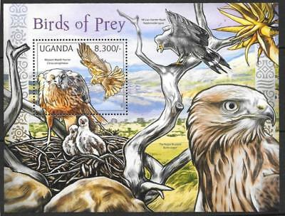 Uganda 2012 Birds Of Prey M/s Mnh