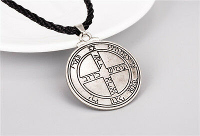 Pentacle Jupiter Talisman Seal Solomon Kabbalah Hermetic Pewter Pendant Necklace