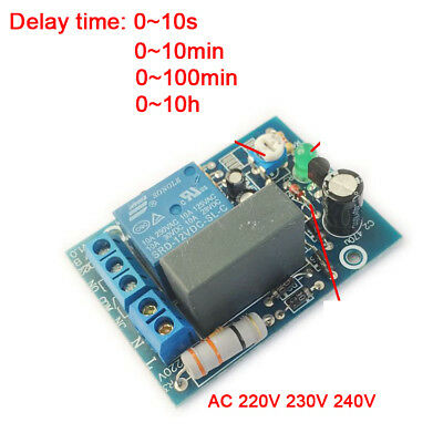 AC220V 230V 240V Adjustable Timer Delay Turn On/Off Switch Time Relay Module PLC