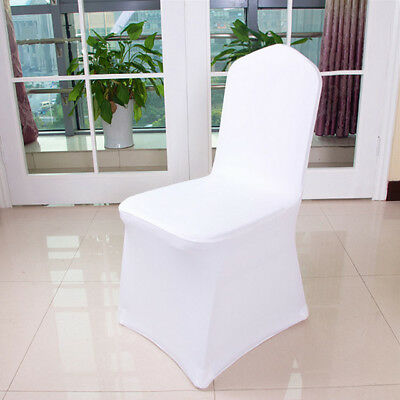 100pcs Chair Covers Spandex Lycra Wedding Banquet Anniversary Party Decor