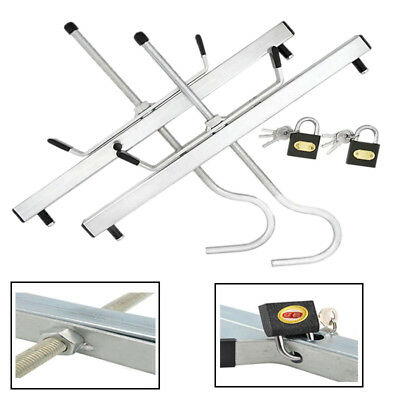 Universal Ladder Roof Rack Clamp Clamps Lockable With2 Free Locks Ladders Secure
