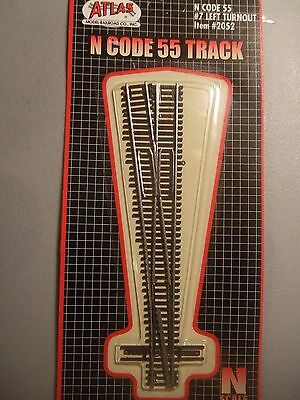 (N) ATLAS Code 55 track - #7 LEFT Turnout Switch N scale 2052