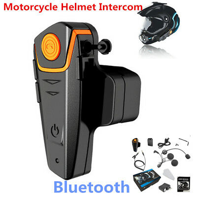 Bluetooth BT-S2 Motorcycle Motorbike Helmet Intercom Headset FM Radio GPS 1000M