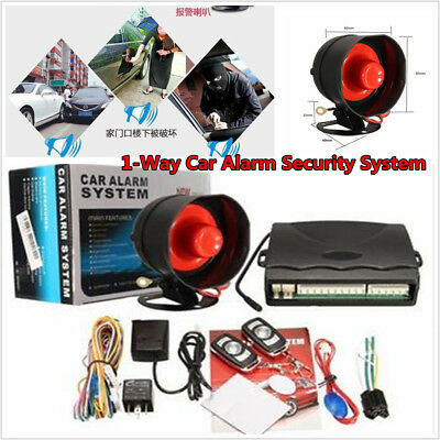 Keyless Entry Auto SUV 1-Way Car Alarm Security System With 2 Remote Anti-theft