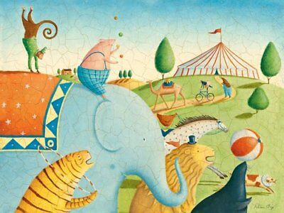 Oopsy Daisy Circus Parade by Alison Jay Canvas Wall Art, 24 by 18-Inch
