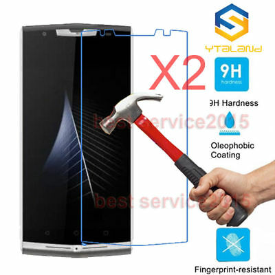 2Pcs 9H+ Premium Tempered Glass Film Screen Protector For Oukitel K10000 Pro