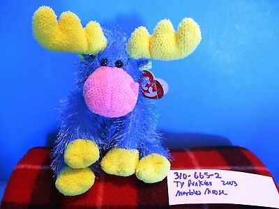 Ty Punkies Blue, Yellow, and Pink  Moose Marbles 2003(310-665-2)