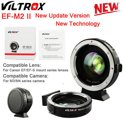 VILTROX EF-M2 auto focus adapter 0.71x aperture for Canon EF Mount to M43 lens