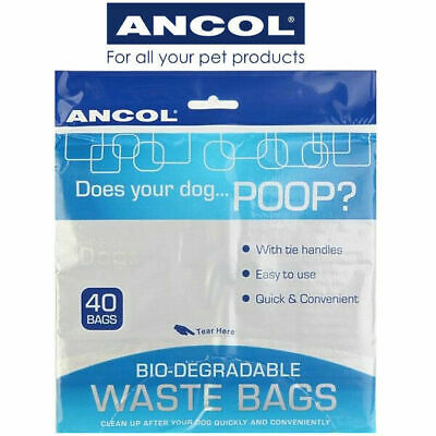 Dog Poo Bags Poop Pet Waste Biodegradable ANCOL 40 80 120 200 400 & 800 Qty