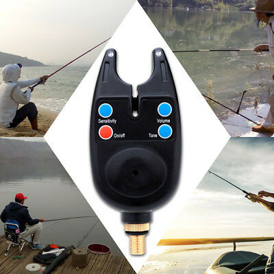 Electronic Light Fish Bite Sound Alert Tackle Clip On Fishing Rod Waterproof