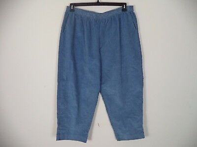 Women's Blue Alfred Dunner Suede Pull On Stretch Pants. Size 22W. Plus.